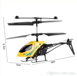 Wholesale Model Helicopters Radio Controlled - New Version Mini RC Helicopter 3.7V Radio Remote Control Aircraft 3D 2.5 Channel Drone Copter With Gyro and Lights