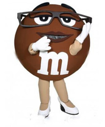 Wholesale Adult Cotton Candy Costume - Mascot city High Quality brown M&M Chocolate Mascot Costume Adult Size Cartoon Character Candy Theme Advertising Mascotte Fancy Dress