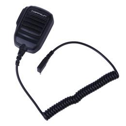 Wholesale Kenwood Radio Mic - OPPXUN Anti-rain 2 Pin PTT Speaker Mic for Kenwood BAOFENG UV-5R TYT WOUXUN H777 RT3 Walkie Talkie Ham Radio Hf Transceiver