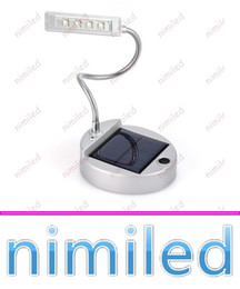 Wholesale Bulb Desk Lamp - nimi1038 3.7V Solar Led Table Lamp 4 LED Portable Lamps Solar Bulbs Light Indoor Reading Lighting PC USB Charger NEW Solar Desk Lights