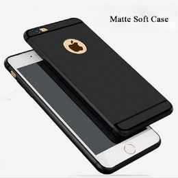 Wholesale Hot Silicone Iphone Case - Hot Untra Thin Matte Frosted Soft Silicone Cover Case For Iphone 6 6s 7 Plus Phone Case With Logo Hole Proctive Phone Case