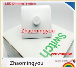 Wholesale Dimmer Switches For Led - Free shipping LED Dimmer Switch 220V 1000W Brightness from Dark to Bright Driver Dimmers For adjustable LED lights