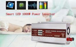 Смарт-светодиодный дисплей 1000 Вт / 1 кВт модифицированный синусоидальный инвертор преобразователь питания зарядное устройство автомобиля DC 12 В переменного тока 220-230 В конвертер + USB 5 В / 1A от