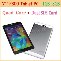tablette chinoise 64gb Promotion 7 '' IPS LCD Tablet PC P300 1280 * 800 px Quad Core Double Slot de Carte SIM Phablet 8GB + 1GB Ultra-mince Tablet Pour Android 4.4