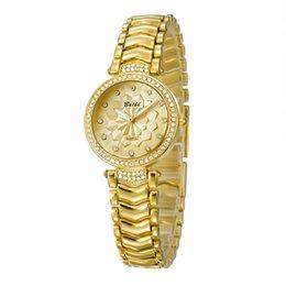 Wholesale China Brand Women Watches - New arrivals!China Gold Diamond Watch Japan Movement Gold Diamond Watches Luxury Fashion Lady brand BELBI Quartz Watch For Women WeddingGift