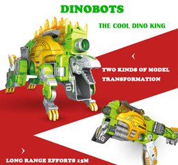 Wholesale Toys Dinosaurs Dragon - Transformable Toy Gun Can Shoot EVA Soft Bullet Change Into Dinosaur Dragon Gift For Boy dinobots gun Soft bullet Stegosaurus