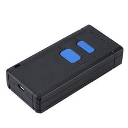 Mini scanner portatile usb online-Commercio all'ingrosso - Mini Wireless Bluetooth Scanner di codici a barre Scanner di codici a barre Lettore di codici a barre CCD Luce rossa senza fili portatile