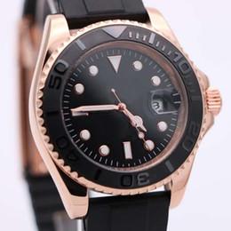 Wholesale Date Day Analog Watch - 2016 uperlative 116655 Automatic Mechanical Men's Oysterflex bracelet Black Dial With Calendar Bracklet Folding Clasp Yacht Male Watch