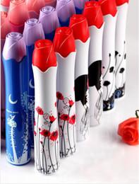Wholesale Personalized Umbrellas - 2017 New Novelty Design Rose Vase Umbrellas Personalized Clear Rain Umbrella Super Cute And Compact 3-Folding Manually Umbrella