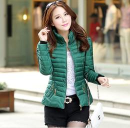 Wholesale Korea Shorts - Wholesale-Korea Winter 2016 Latest Fashion Big yards Women' Coat Keep Warm Long Sleeve Pure color High-end Short Cotton Down Jacket