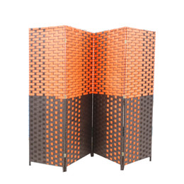 Wholesale Wholesale Screen Room Dividers - 1 Panel Handcrafted Wood Rattan Room Divider Screen Intricately Weave on Both Sides or Single Side Divides Room Home Decoration