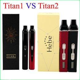 Wholesale Variable Vaporizer Display - Titan 1 2 dry herb vaporizer kits Variable Temperature 2200mAh with lcd display Titan2 E Cigarette Starter Kit in stock DHL free