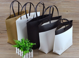 Wholesale Black Paper Shopping Bags - Special shape 4 sizes stock and customized ivory board elegant paper bag paper shopping bag ELB159