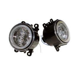 2019 lente h1 Para Jaguar S-Type / X-Type 2004-2007 2008 Car Styling Bumper Angel Eyes LED Faros antiniebla DRL Luces antiniebla de circulación diurna OCB Lens rebajas lente h1