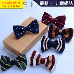 Wholesale Baby Ties Pattern - Children's knitted bow tie Tide treasure for children's clothes accessories 30 style pattern optional baby bow tie