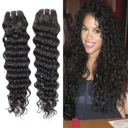 Wholesale Malysian Weave - 2016 new popular deep wave hair grade 8A malaysian human hair extensions 1pcs lot bellqueen deep wave malysian hair