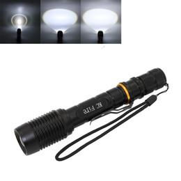 Wholesale Diving Led Lights - KC Fire 6000 Lumens XM-L2 ZOOM LED Flashlight,torch,lantern,self defense,camping light, lamp