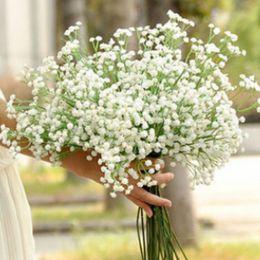 Wholesale Gypsophila Plant - Gypsophila silk baby breath Artificial Fake Silk Flowers Plant Home Wedding Party Home Decoration Free Shipping