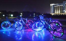 Luces de alambre de bicicleta online-Venta caliente 2m String Wire Lamp Recargable resistente al agua 20 LEDs Bicicleta Bike Cycling Rim Lights LED Rueda Spoke Light