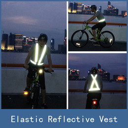 Wholesale Reflective Harness Vest - New High Visibility Elastic Chaleco Reflectante Reflective Safety Vest Belt Strap for Outdoor Night Work Running Walking Cycling