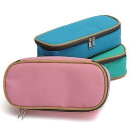 Wholesale Large Cosmetic Cases Wholesale - Wholesale-Large Capacity Multifunctional Canvas Pencil Case Pen Cosmetic Travel Bags Box Office School Kids Stationery