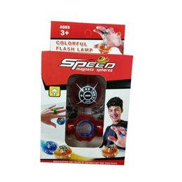 Wholesale Pop Lamp - Christmas Speed Magneto spheres Finger toys Fingertip decompression Magic Magnetic Ball pop flash lamp colorful pressure relief artifact