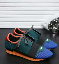 Wholesale Puzzle Blue - 2017 Italy original luxury brand popular tassel shoes shoes puzzle color mixing low-key fashion couple leisure shoes high quality free shipp