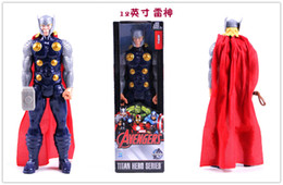 """Wholesale Marvel Avengers Heros Figures - Marvel Heros Captain America Avenger Superhero PVC Action Figure Toy 12""""30CM Avengers Thor Captain America"""