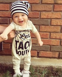 Wholesale toddler girls fall clothes - Baby Romper Newborn Letter Print Bodysuit Girl Boy Fashion Summer Fall Clothes Toddlers Long Sleeve Kids Clothing Cute New B11