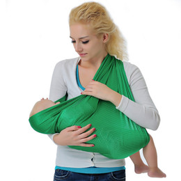 Wholesale Baby Sling Rings - Retail 3 Colors Moby Wrap Elastic Cotton Newborn Solid Color Baby Carrier breathable baby wrap carrier Stretchy baby sling sling with rings