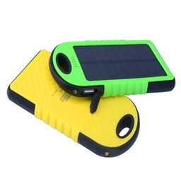 Wholesale Solar Cell Case - New Double USB 5000mAh Waterproof Solar Power Bank With PVC Case External Battery Pack for xiaomi and other universal USB Devices