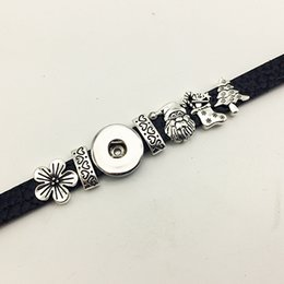Wholesale Dress One Direction - Fashion Hot Sale One Direction Sterling Jewelry Jewelry Christmas Retro Leather Snap Button Bracelet Bt115 (fit 18mm 20mm Snaps) party dress