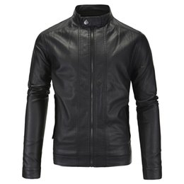 Wholesale Leather Jackets For Men 5xl - Fall-2016 England Style Vintage Motorcycle Jackets For Men British Male Leather Motorcycle Jacket Plus Size 5xl Branding Cloth S1965