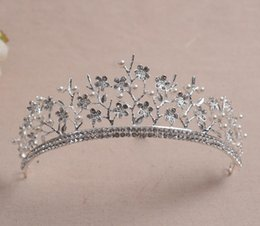 Wholesale Girls Pageant Crowning Dresses - Pageant Pcincess Crowns Shiny Crystals Real Sample Bridal Wedding Tiara Girls Evening Prom Party Dresses Accessories supplier