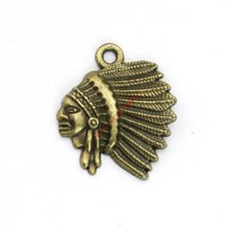 Gioielli in bronzo indiano online-20pcs bronzo antico placcato indiani pendenti di fascini per il braccialetto creazione di gioielli fai da te collana artigianale 21x18mm