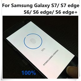Wholesale Home Button Stickers For Galaxy - Wholesale-Fingerprint Home button sticker For Samsung Galaxy S7 S7edge S6 S6edge S6 edge+ transparent identify fingerprint protection film