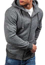 Wholesale Men Jacket Sweater Zipper - Free Shipping Size M-2XL High Quality New Autumn and Winter Fashion Casual Round Neck Men's Fleece Cardigan Zipper Hoodie Sweater Jacket