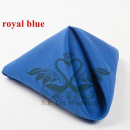 Wholesale Napkins For Parties - Poly Table Napkin For Wedding Decoration 48cm*48cm Good Quality - Royal Blue