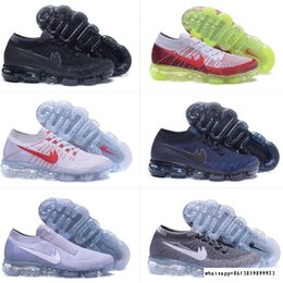 Wholesale Wholesale Flat Shoes For Women - 2018 New Arrival Men Women VaporMaxes Shock Racer Running Shoes For Top quality Fashion Casual Vapor Maxes Sports Sneakers Trainers