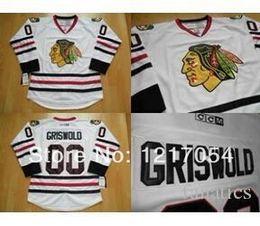 Wholesale Christmas Hockey Jersey - Cheap Ice Hockey Jerseys CCM Chicago Blackhawks Christmas Vacation Clark Griswold #00 Authentic Hockey Jersey White