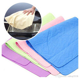 Wholesale car care wholesale - 2015 Compressed PVA Chamois Magic Towel Car Auto Care Clean Towel Cloth PVA Polishing Cleaning Towel free shipping