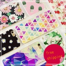 Wholesale Iphone 5c Cases Colours - For iPhone4s iPhone5 5c 5s iPhone6 6s 7 iPhone6 6s 7plus TPU colour decoration phone case Opp Bag