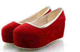 billige keil hochzeit schuhe Rabatt Neue billige Damenschuhe Scrubs Frauen Schuhe High Heels rot Bridal Shoes, wasserdichte Plattform Hochzeit Schuhe