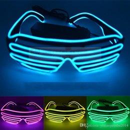 Canada Les volets de la mode Neon LED Light Up Shutter Shake Glow Lunettes de soleil Rave Costume Party DJ Bright SunGlasses Offre