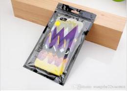 Wholesale Wholesale Store Phone Cases - 300pcs Wholesale Universal Black Plastic Zipper OPP Bags Personality Design Premium Zip Lock PVC Gift Bags Wireless Store Phone Cases Bags