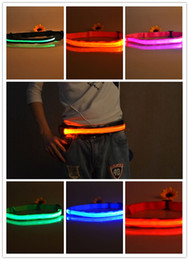 Wholesale Red Safety Light - LED Belt Riding Mountain Flash Warning Light Outdoor Running Light-emitting Waistband Safety Reflective Belt Waistband Bicycle Jogging
