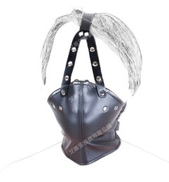 Wholesale Soft Leather Ball Gag - 1pcs xsextoy Leather Harness with Soft Rubber Gag Inside best price for u