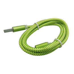 Wholesale Usb Snake Light - 1m Light Nylon Braided USB Cable, Colorful Snake Skin Braided Micro Usb Cable, High Speed USB Data Cable