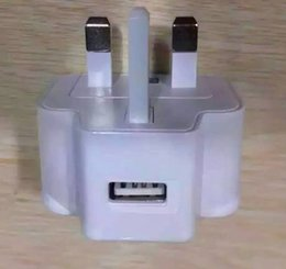 Wholesale Dock I5 - White Full 5V 1000mA USB Charger For UK Plug USB Travel Wall Charger Adapter For iPhone 6s i5 Samsung s7 Galaxy s6 LG