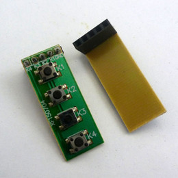 Wholesale Fpga Boards - 2pcs 2.54mm Female Pin Header 4 Button key Switch Keyboard kit for raspberry pi FPGA CPLD ARM AVR Development Board